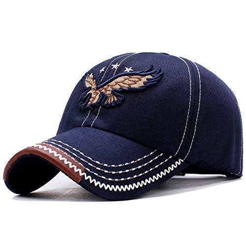 CaCaCook Baseball Kappe,Schnelltrocknender Sonnenhut,Mode 3D Adler Stickerei Hut,Justierbarer einfacher Hut,Unisex Hip Hop Snapback,Polo Style Classic Sports Leichter Hut,Outdoor Laufmütze