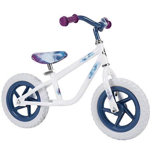 Huffy Frozen 2 Balance Bike for Toddler & Kids, Elsa Graphics, Purple