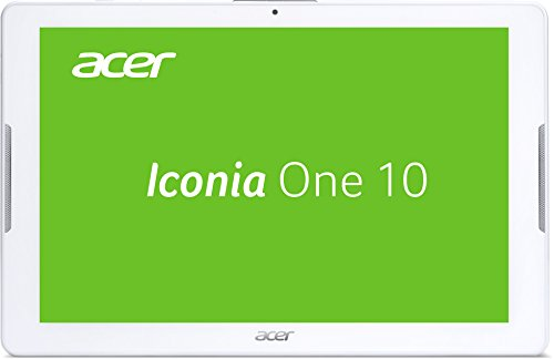 Acer Iconia One 10 (B3-A30) 25,7 cm (10,1 Zoll HD Touch IPS) Media Tablet (1,3 GHz Quad-Core, 16 GB, 1 GB RAM, GPS, Bluetooth, MicroSD, MicroUSB, WLAN, Android 6.0, Multi-Touch) weiß