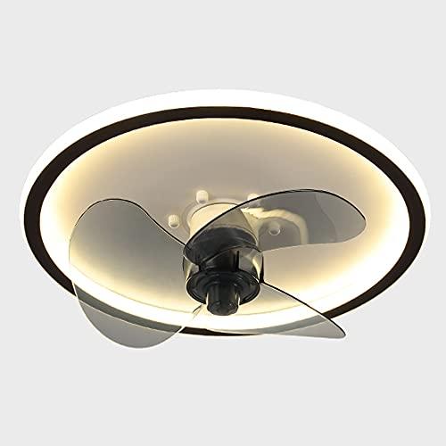 Ventilador De Techo Con Iluminación Moderno LED Luz De Techo Viento De 3 Engranajes Con Regulable Control Remoto Lámpara De Techo Con Ventilador Lámpara Para Dormitorio Sala De Estar Comedor (Round)