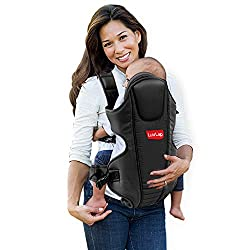 LuvLap Galaxy Baby Carrier with Padded Head Support, for 6 to 36 Months Baby, Max Weight Up to 15 Kgs (Black),Luvlap