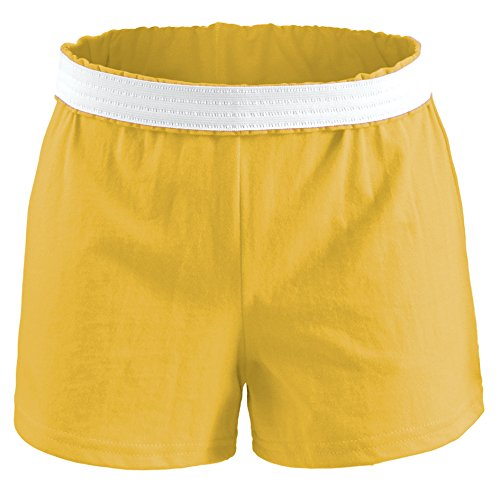 Soffe Juniors' Authentic Cheer Short, Light Gold, Small (1-Pack)