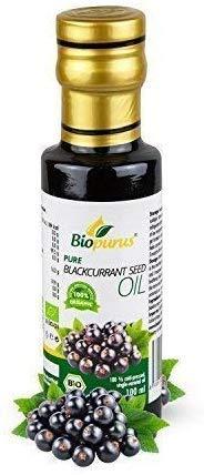 Zertifiziertes Bio Kaltgepresst Schwarze Johannisbeere Samenöl 100ml Biopurus