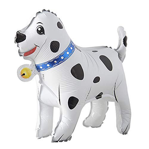 Selfstand Lets pawty Walking Animal Balloons Cute Dog Dalmatians Balloons Pet Balls Party Happy Birthday Party Decoration Toys (3D Dog)