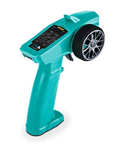 Carson 500500104 Reflex Wheel Start 2.4G Radio, Modellbau, Zubehör, Fernsteuerung, Empfänger, 3 Kanal, Tamiya KIT kompatibel, türkis