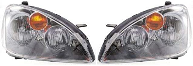 Headlight Assembly Compatible with 2002-2004 Nissan Altima Halogen Passenger and Driver Side