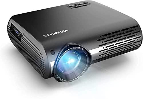 WiMiUS 7500 LM videoproiettore Full HD 1920 x 1080P supporto video 4K 4D ± 50° correzione elettronica LED proiettore per home theatre smartphone compatibile Fire Stick, Xbox, PS5