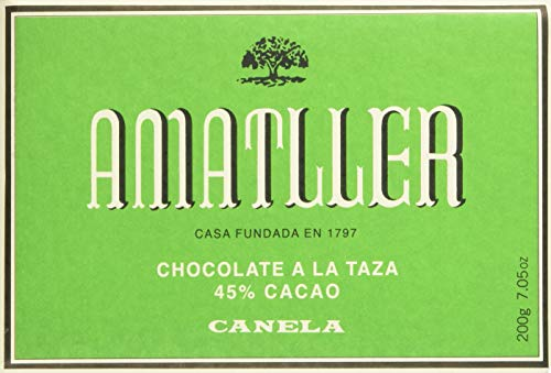 Chocolate Amatller Nº8 Piedra, Barrita grande de chocolate - 20 de 200 gr. (Total 4000 gr.)
