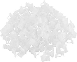 Plástico Colgando Etiquetas de Plantas 100 UNIDS Planta Árbol Vivero Plántulas Etiquetas Reutilizable Impermeable Jardín Decoración 11 Blanco 2.4 cm