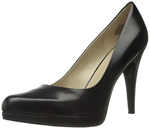 NINE WEST Women's Rocha Leather, Black, 8.5 M US