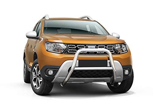 Frontschutzbügel mit Querstäben für Dacia Duster ab Baujahr 2018 mit EU-Zulassung für den TÜV und ABE