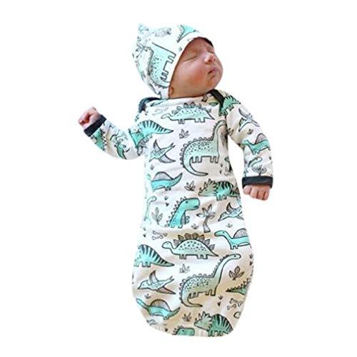 Mariisay Sacs De Couchage Baby Summer Chic Unisexe Casual Robe De Pyjama Swaddle Blanket Wraps Avec Bonnet Costume Impression Dinosaure Enfants Sac De Couchage Poussette Wrap Pour Bébé 0 12 Mois