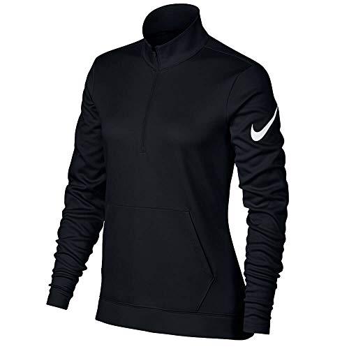 NIKE Therma Fit Half Zip Fleece Golf Jacket 2017 Women Black/White Large