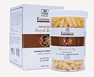 Everhealth Royal Jelly 1000mg 300 Capsules Dietary Supplement by Everhealth