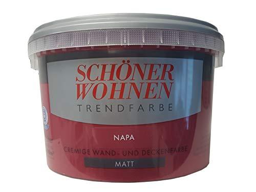 SCHÖNER WOHNEN FARBE Wand- und Deckenfarbe Trendfarbe Napa, matt, 2,5 l 2 l, napa