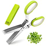 Herb Scissors, X-Chef Multipurpose 5 Blade Kitchen Herb Shears Herb...