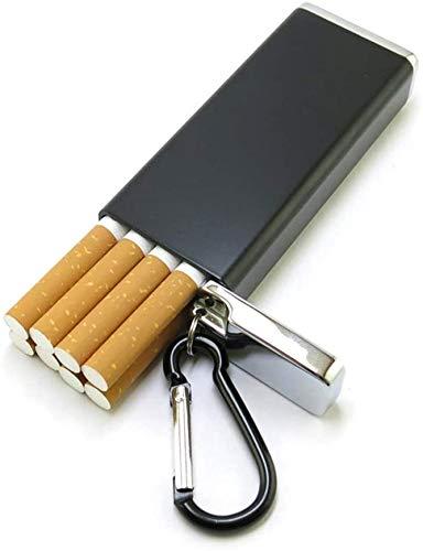 BECCYYLY Caja de Cigarrillos Caja de aleación de Aluminio Caja de Cigarrillos Caja de Cigarrillos de Metal portátil Caja de Cigarrillo Masculino Creativo Puede acomodar 8 Cajas de Cigarrillos