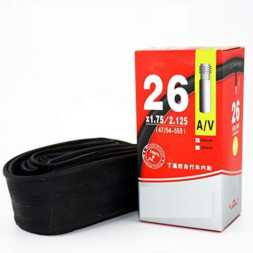 AIKESIWAY Bicycle Inner Tube,Standard and Self Sealing Bike Tubes (Black, 29' x1.75-2.35')