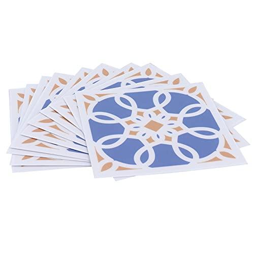 10 Uds PVC azulejo adhesivo suelo impermeable autoadhesivo pared calcomanía para el hogar cocina baños escaleras gabinetes