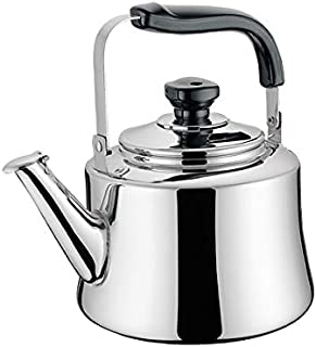 Zoombo 1.5 Liter Stainless Steel Whistling Stove Top Kettle - Silver