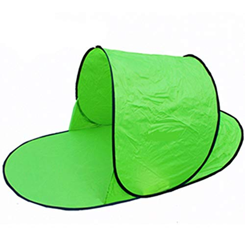 JMNyxgs Folding Camping Tent, Dome Tent Camping Shelter, Waterproof Anti-UV Family Tent for Outdoor Camping Hiking Travel Backpacker Beach 1-2 Persons Green