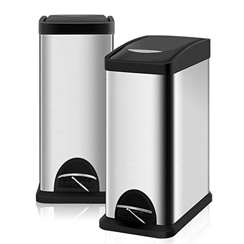 Household Trash Can Pedal Type Large Bathroom Kitchen Living Room Bedroom With Covered Toilet Stainless Steel Trash Can