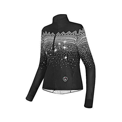 prolog cycling wear Damen Radhose Winter lang mit Träger und Sitzpolster, schwarz Größe XS, S, M, L, XL - 4
