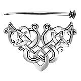 Lurrose triángulo celta pinza de pelo vintage plata palo de pelo nudo celta pasador de pelo joyería de boda horquilla para mujer y hombres