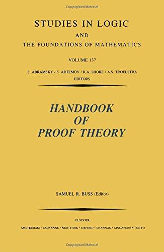 Handbook of Proof Theory, Volume 137