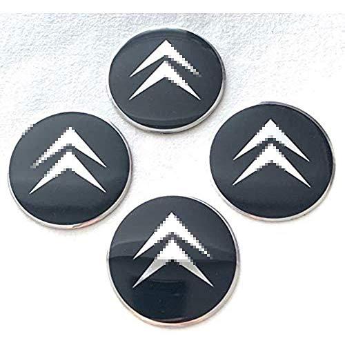 YZZR Tapas para Llantas,para Citroen Emblem de 55MM 4pcs con Logo Compatible Coche Centro de Ruedas Emblema Prueba de Polvo Pegatina Rueda Centro Cubierta