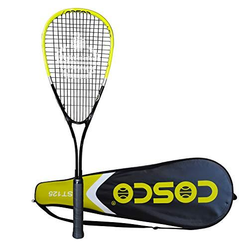 Cosco LST-125 Strung Tennis Racquet Yellow Black