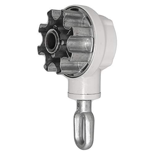 DIWARO.® | Kegelradgetriebe für Markisen | 4,4:1 | RAL 7035 | für 78mm Nutrohr | Markisengetriebe