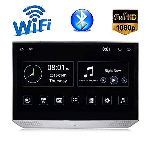 Auto Hoofdsteun Display Monitor, 13,3-inch WIFI Bluetooth FM USB SD Speler, IPS LCD-scherm, HD 1080P 4K TV Draadloze Internet Toegang, 1920 × 1080 Resolutie Zwart