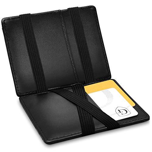 Vegas Magic Wallet - Kleiner Geldbeutel - TÜV geprüft - Dünne Geldbörse mit Münzfach - Geschenk für Herren und Damen mit Geschenkbox - Smarter Geldbeutel - Slim Portemonnaie