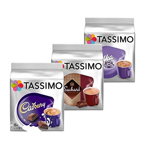TASSIMO Hot Chocolate Pack - MILKA, CADBURY, SUCHARD 32 T-DISCS