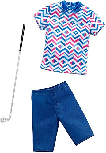 Mattel Barbie Ken Mode - Kit completo de moda para golfistas, golfistas, compatible con Barbie