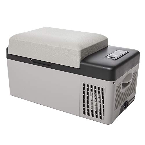 アイリスプラザ 車載冷蔵庫 グレー 20L スピード冷却 -20℃~20℃ スマホ充電可能 PCR-20U-H