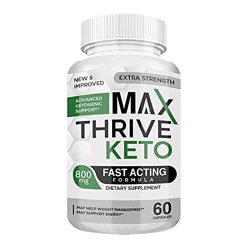 Max Thrive Keto Pills - Max Thrive Keto Advanced Weight Management Support - Max Thrive Keto 800MG Bottle (60 Pills - 1 Month Supply)