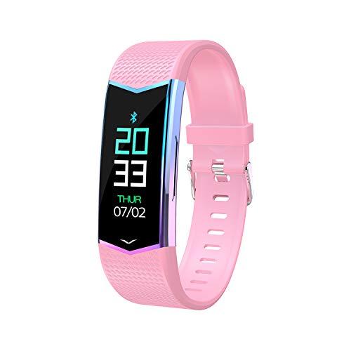 HQHOME Pulsera Actividad Reloj Inteligente Podómetro Monitor Fitness Tracker de Sueño Contador de Calorías Pasos Rastreador de Ejercicios Reloj Salud Pulsera Deportiva para Niños Mujeres Hombres