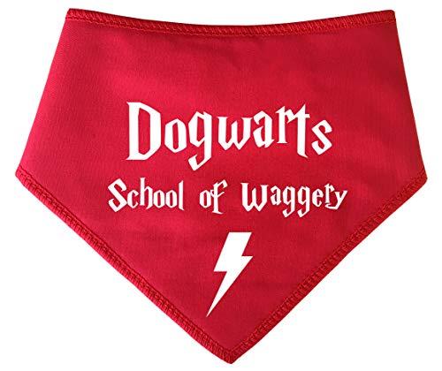 Spoilt Rotten Pets Hundehalstuch, für die Schule des Waggerys, Harry Potter, für Hunde, geeignet für Golden Retriever, Dalmatiner, Labrador und Staffie-Größen, Rot