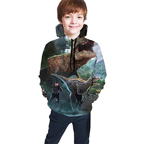 Hidend Sudaderas para Niña Niño,Sudadera con Capucha para Niños Dinosaur Raptor World...