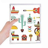 ソンブレロ・テキーラ・ギター・チリ・メキシコ素子 硬質プラスチックルーズリーフノートノート