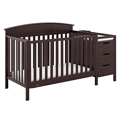 Graco Benton 4-in-1 Convertible Crib and Changer (Espresso) Solid Pine and Wood Product Construction, Converts to Toddler Bed or Day Bed (Mattress Not Included)