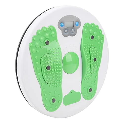 ZJchao Disco de cintura giratorio, dispositivo de cintura que gira calorías, color verde, práctico para mantener la música con función de contador para moldear el cuerpo.