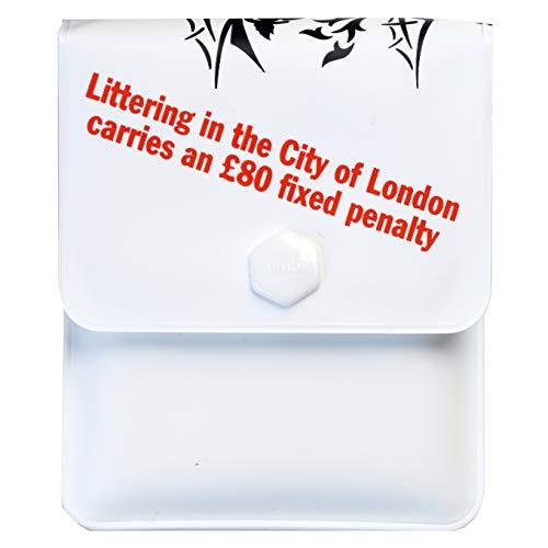 Smartstreets Minibin – Portacenere tascabile compatto e morbido (City of London) Confezione da 5