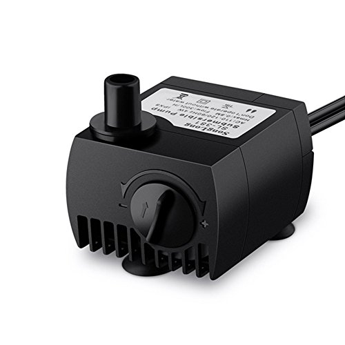 JUFENG Submersible Water Pump For Pond, Aquarium, Fish Tank Fountain Water Pump Hydroponics with 4.9ft (1.5m) Power Cord US Plug