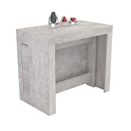 VE.CA.s.r.l. Table console extensible Karen avec porte-rallonges en bois - extensible de 51,5 cm 300 cm, en 5 couleurs - décoration, cuisine, maison, design