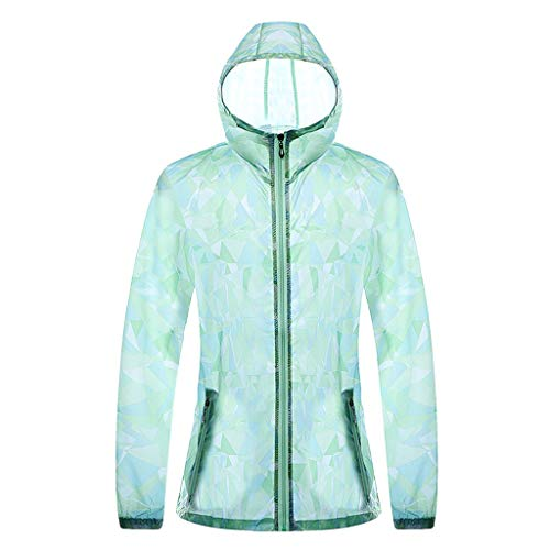 Allegorly Sonnenschutzkleidung Unisex Zipper Ultradünne atmungsaktive Kleidung Radtrikot Radjacke Softshell Lightweightjacke Regenjacke UV-schutzkleidung Haut Windbreaker Outdoor