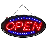 Open LED Sign, Ultra Bright LED Business Open Sign, Advertisement Board High Visibility Electric Display Sign,18.9x8.3inch Two Modes Flashing&Steady Light for Business,Walls,Window,Shop,Bar,Hotel