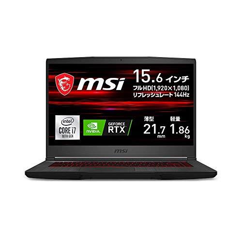 【RTX2060搭載・薄型・軽量】MSIゲーミングノートPC GF65 1.86Kg i7 RTX2060/15.6FHD/144Hz/16GB/512GB/GF65-10SER-257JP